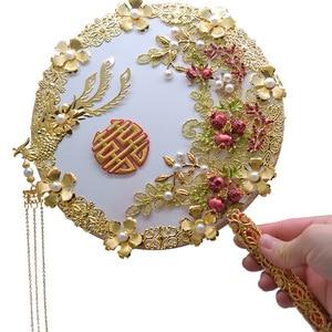 Image 2 - Kyunovia Gold bouquet luxury Bridal Bridal Bouquet Ivory Great Gatsby wedding Brooch Fan Bouquet  D150