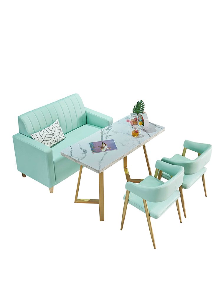 Tea Shop Table And Chair Combination Net Red Simple Fresh Dining Dessert Shop Syrup Snack Bar Cafe Table And Chair
