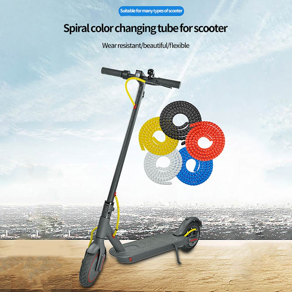 8mm Wire Spiral Winding Tube Winding Cable Cover Electric Protector Suitable For Xiaomi Electric ScooterWinder Practical