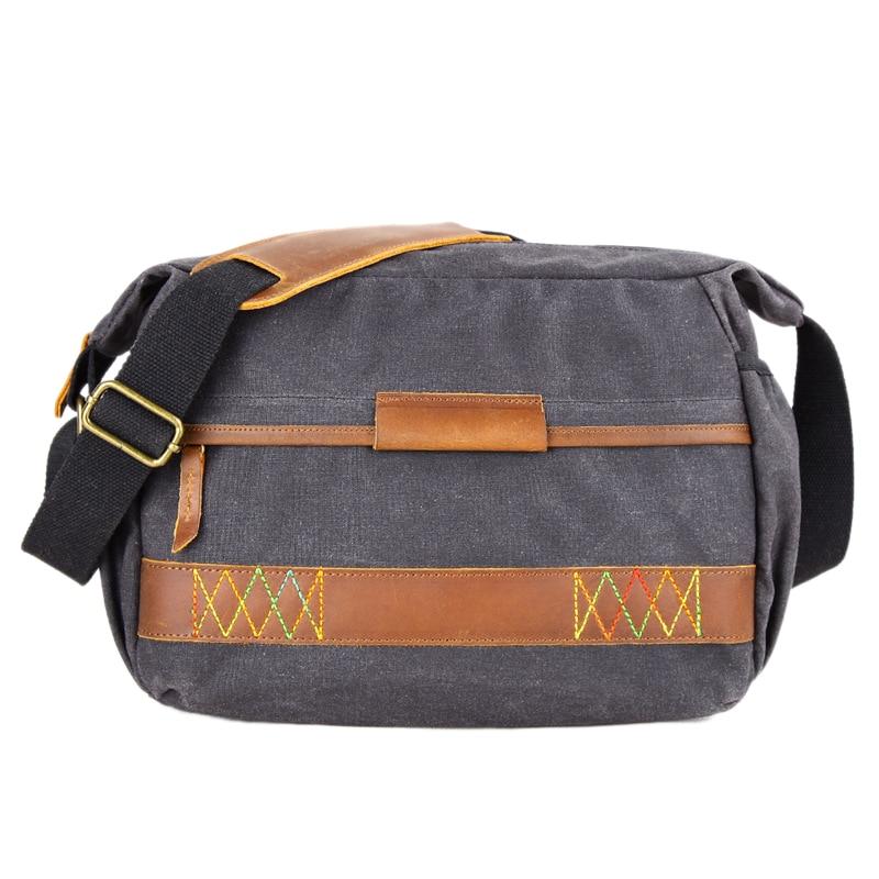 Vintage étanche Batik toile sac photo sac à bandoulière photographie pour Canon Nikon Sony Dslr appareil photo