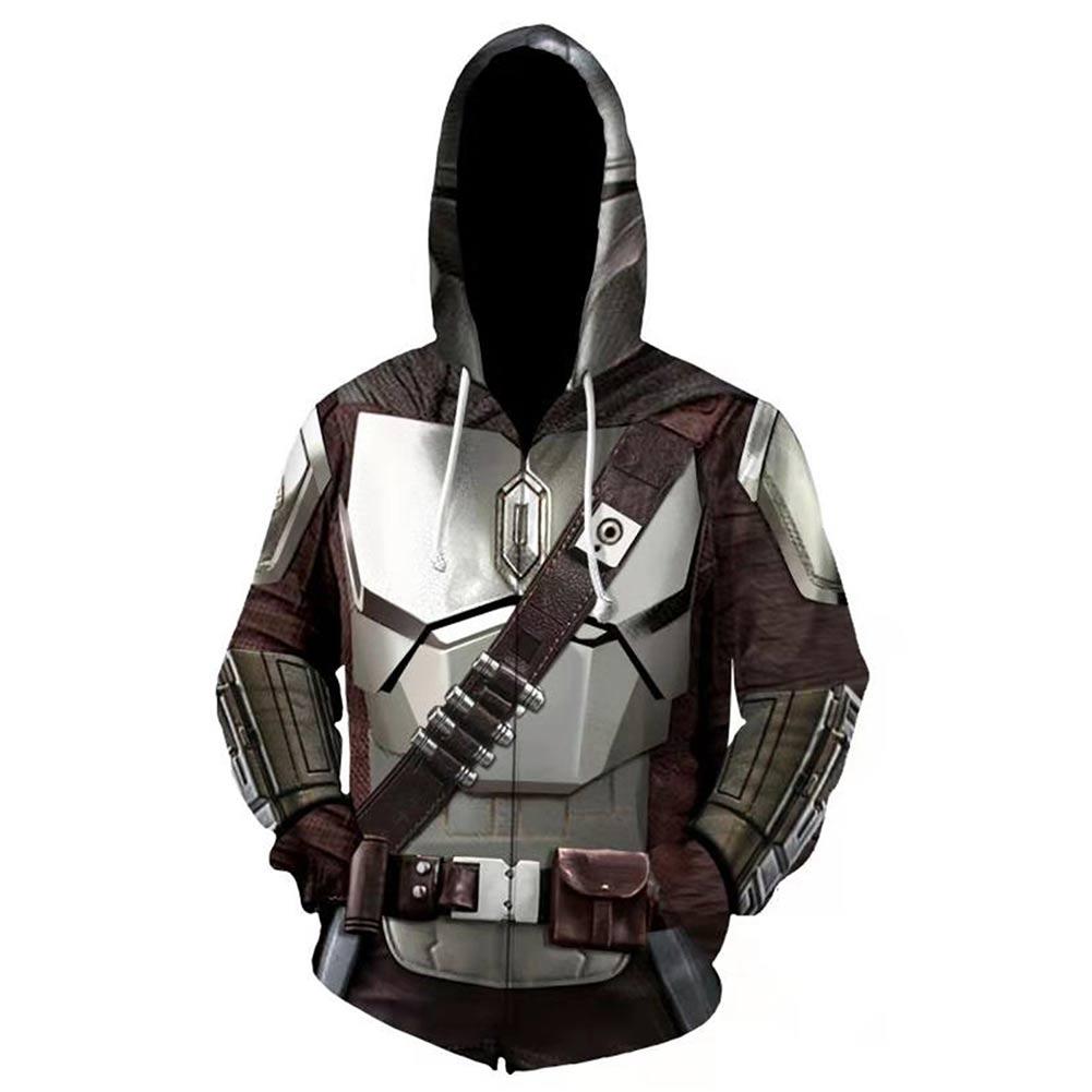 Star Cosplay Hoodie 3D Printed Sweatshirt Men Women Casual Streetwear Zip Up Jacket Coat