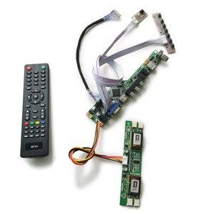 Placa de acionamento do controlador universal vga usb av lvds de 20 pinos para lt150x1/lta150xh/ltm150xh tela kit diy 1024*768 4ccfl
