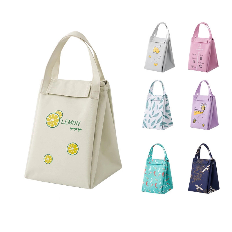 MABULA Unisex Multifunction Foldable Insulated Lunch Bag Expandable into Placemat Cooler Freezable Lunch Handbag for Picnic