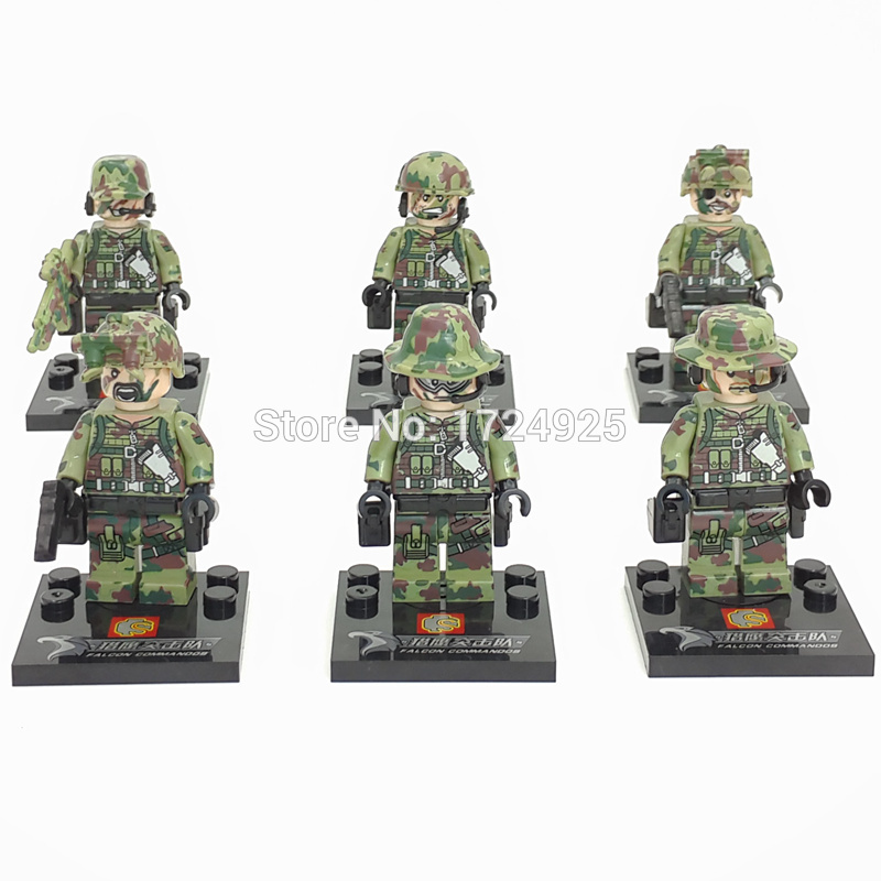 Image 3 - Wholesale 60pcs/lot SWAT Figure Military Set Building Blocks Sets Model Bricks Educational Toys Children No Original Box SY11101-in Blocks from Toys & Hobbies