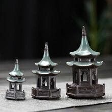 Pet-Ornaments Ceramic-Decorations Garden-Accessories Feng Shui Pagoda Home-Decore Mini