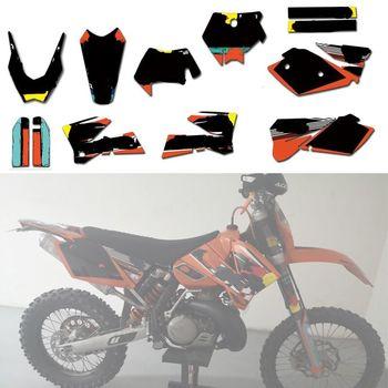 Customized Team Graphics Stickers Decals Deco Kit For KTM 125 200 250 300 400 450 525 540 EXC 2003 2004 2005 2006 2007 2008 motorcycle graphics stickers decals for ktm sxf mxc xc sx exc 125 200 250 300 350 400 450 525 2005 2006 2007