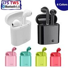 I7s tws bluetooth наушники 2020 новые розовые синие беспроводные музыкальные наушники с микрофоном для звонков детские наушники для бега
