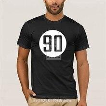T-shirt impresso tripulação pescoço de manga curta T-shirt ocasional personalidade 90 Verão Camisa Dos Homens T