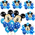1 комплект 24 дюйма алюминий воздушный шар из фольги Disney с Микки Маусом и Минни Маус комплект Мышь голову одежда для свадьбы, дня рождения дек...