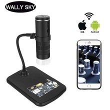1000X Digital Microscope HD 1080P LED USB WiFi Microscope Mobile Phone Microscope Camera for Smartphone PCB Inspection Tools