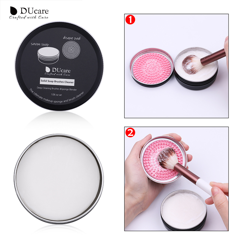 DUcare 1PCS Makeup Brush Cleaner Soap Cleaning Washing Brush Silicone Pad Mat Box Make Up Cosmetic Tools