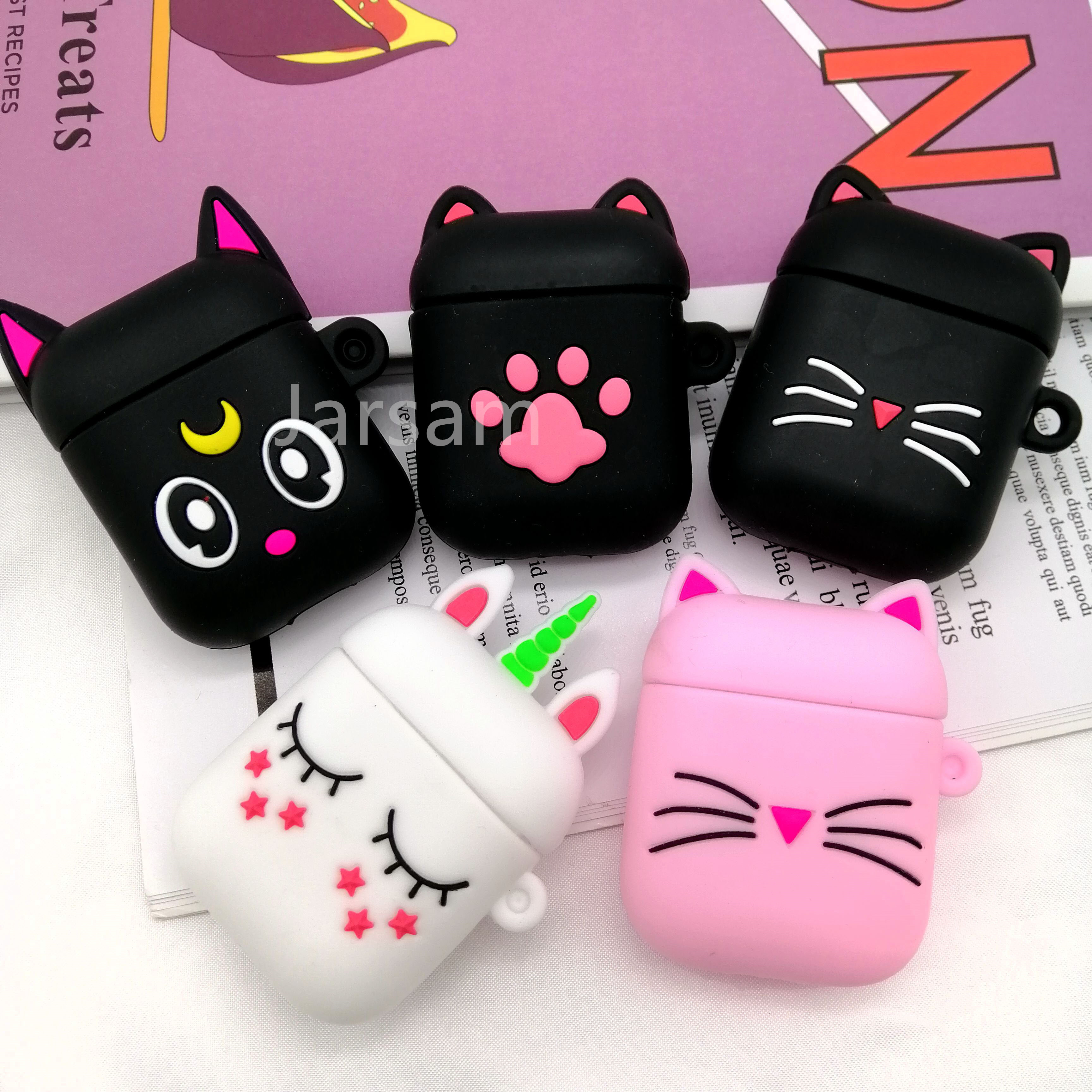 For AirPods Case 3D Cute Biscuits Earphone Cases For Apple Airpods 2 Funny Protect Cover Without Finger Ring Strap