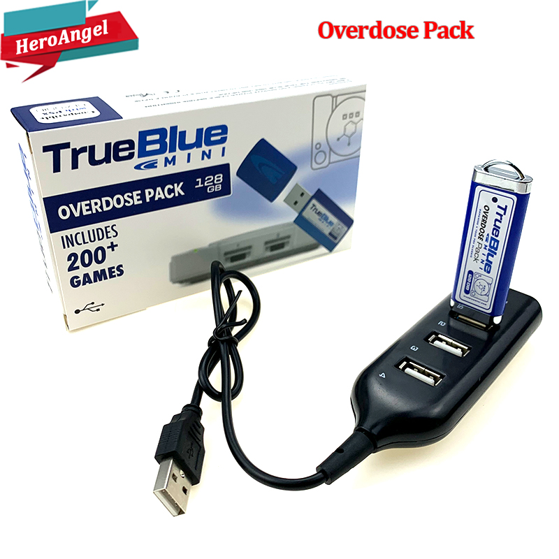 203 Games True Blue Mini-Overdose Pack For PlayStation Classic (128GB) Accessories 2019 Preorder Sales Hot 2-player Games Newest
