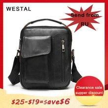 WESTAL erkek omuzdan askili çanta küçük flap fermuar erkek crossbody çanta erkekler için hakiki deri çanta çanta erkek postacı çantası 8211