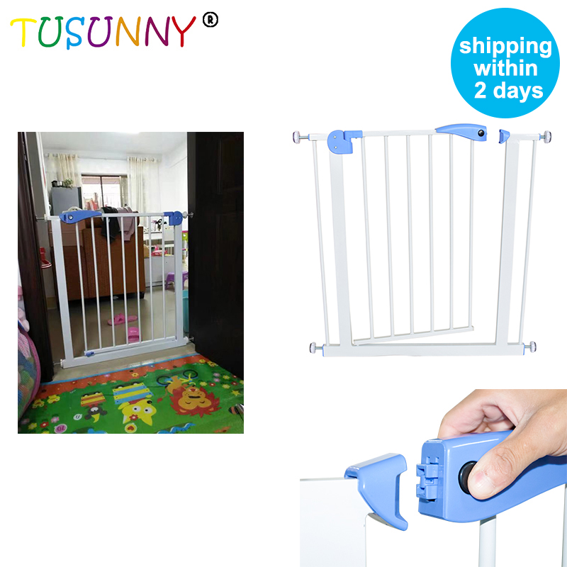 TUSUNNY Baby Safety Door Gate Kids Child Fence Gate Fencing For Children Baby Pet Fence Baby Fence Stairs For Door Width 74-87cm