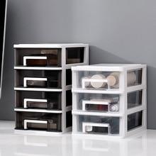 Plastic Storage Organizer Box Transparent Jewelry Make Up Organizer Drawer Container Home Office Desktop Sorting Storage Box недорого