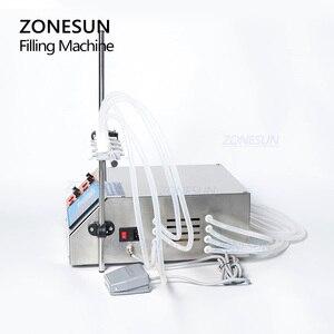 Image 4 - ZONESUN 4 kafaları sıvı parfüm su suyu uçucu yağ elektrikli dijital kontrol pompası sıvı dolum makinesi 3 4000ml