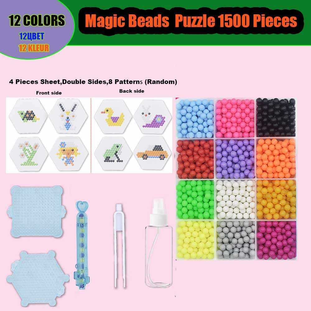 Magic Beads Kits Water Sticky Perler Beados Pegboard Set Fuse Jigsaw Puzzle Education Toys For Kids Best Gift Puzzles Aliexpress I dette store saet far du hele 600 perler i 8 forskellige farver. magic beads kits water sticky perler beados pegboard set fuse jigsaw puzzle education toys for kids best gift puzzles aliexpress