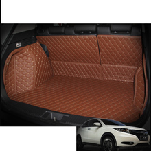 Lsrtw2017 Leather Car Trunk Mat Cargo Liner for Honda Hr-v Vezel Hrv 2014 2015 2016 2017 2018 2019 2020 5d Rug Carpet Sticker