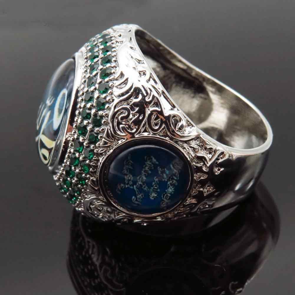 ยุโรปและอเมริกา Arabian เครื่องประดับพระคัมภีร์แหวนตะวันออกกลางตุรกีลม Lucky หินการพูดเกินจริงแหวน