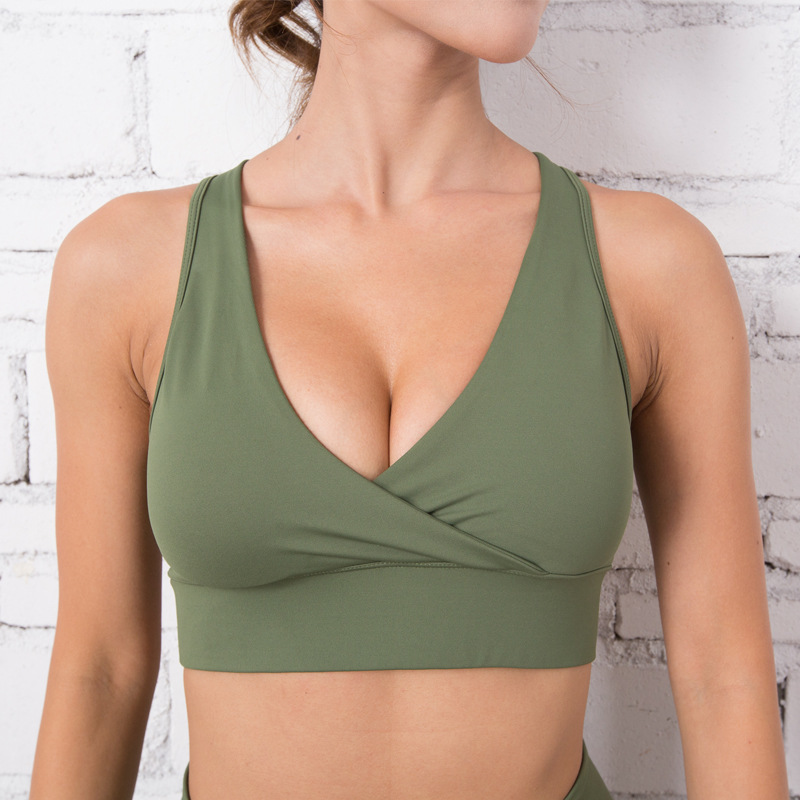 Fitness Bras Soutien Gorge Padded Push Up Bra 3D Camouflage Sports Bra Wirefree