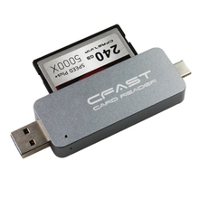 CFast Card Reader Dual Port USB3.0 USB3.1 TYPE-C TYPE-A Portable CFast2.0 Reader