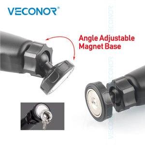 Image 3 - Luz de trabajo COB recargable para mantenimiento de inspección de coche, luz de trabajo portátil para exteriores, carga USB ajustable, luz de emergencia portátil de mano