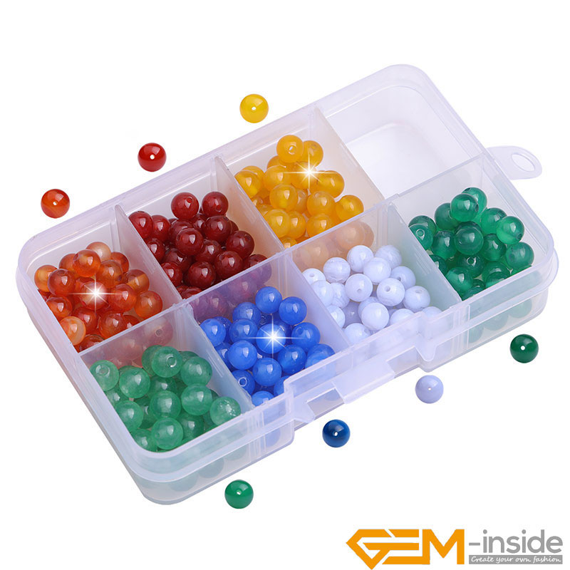 6mm 252pcs 7 Chakra Stones Beads Kit Set For Jewelry Making Natural Stone Round Bead Box Charm Accessories For Bracelet  36pcs