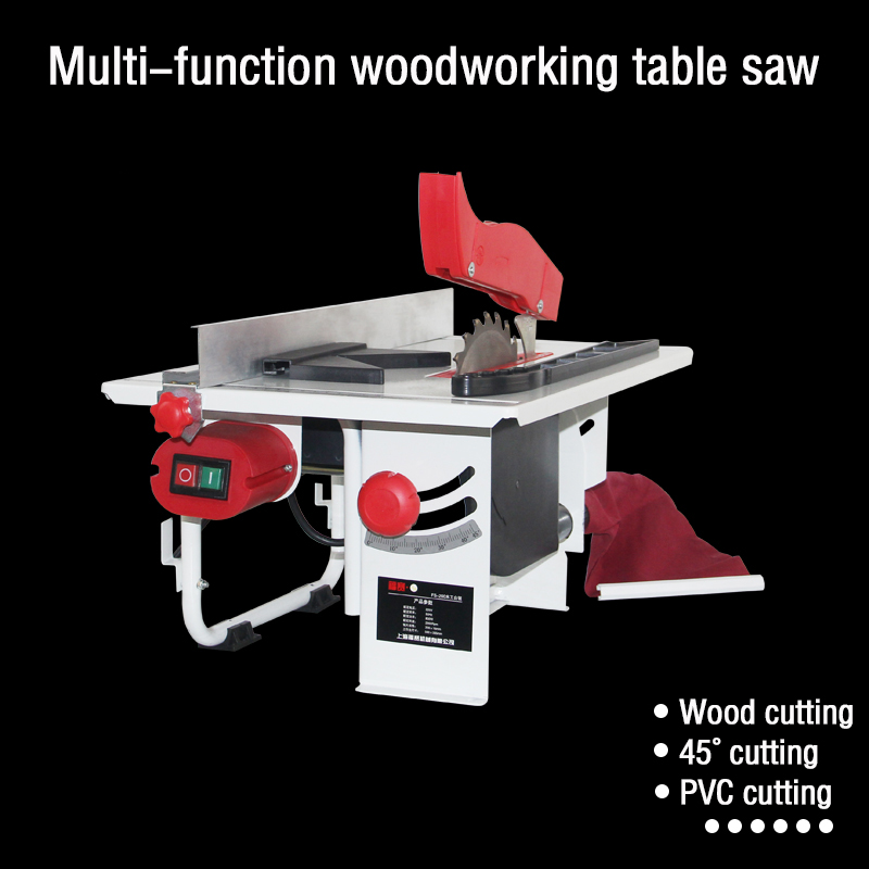 FS-200 household small saw dust-free sliding table saw multi-function table saw woodworking desktop copper wire cutting machine