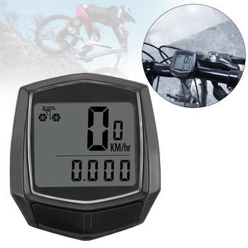 цена на Bicycle Computer Waterproof Bicycle Bike Cycle LCD Display Digital Speedometer Odometer with Green Backlight Bike Accessories