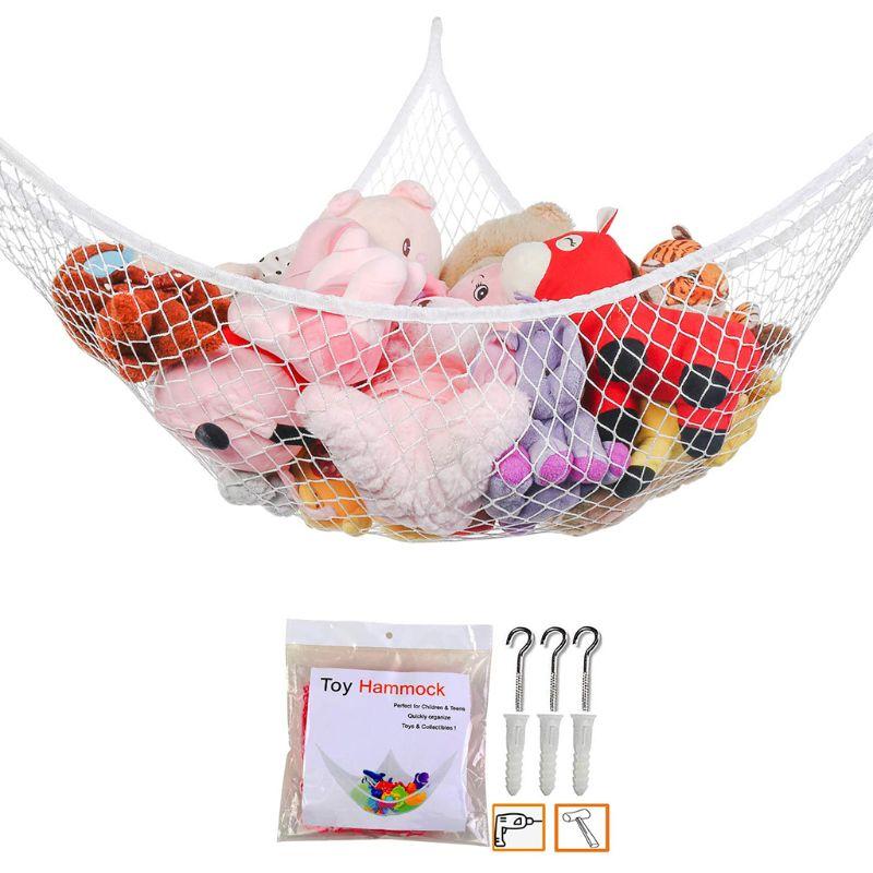 All New Mesh Net Toy Hammock Corner Stuffed Animals Kids Baby Hanging Storage Organizer 1