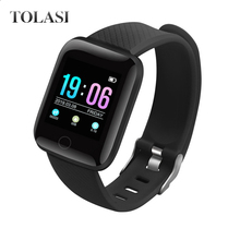 2019 116plus Color Screen Smart Wristband D13 Real-time Heart Rate Large Blood Pressure Sleep IP67 Waterproof Watch