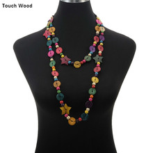 Exaggerated women necklace / stars wooden beads coconut shell handmade beaded butterfly  wholesale dropshipping