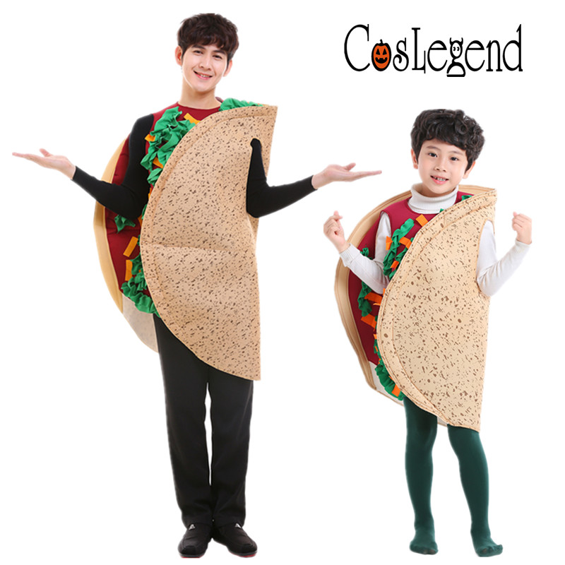 Adult And Child Mexico Taco Costume Food Cosplay Halloween Taco Cake Costume