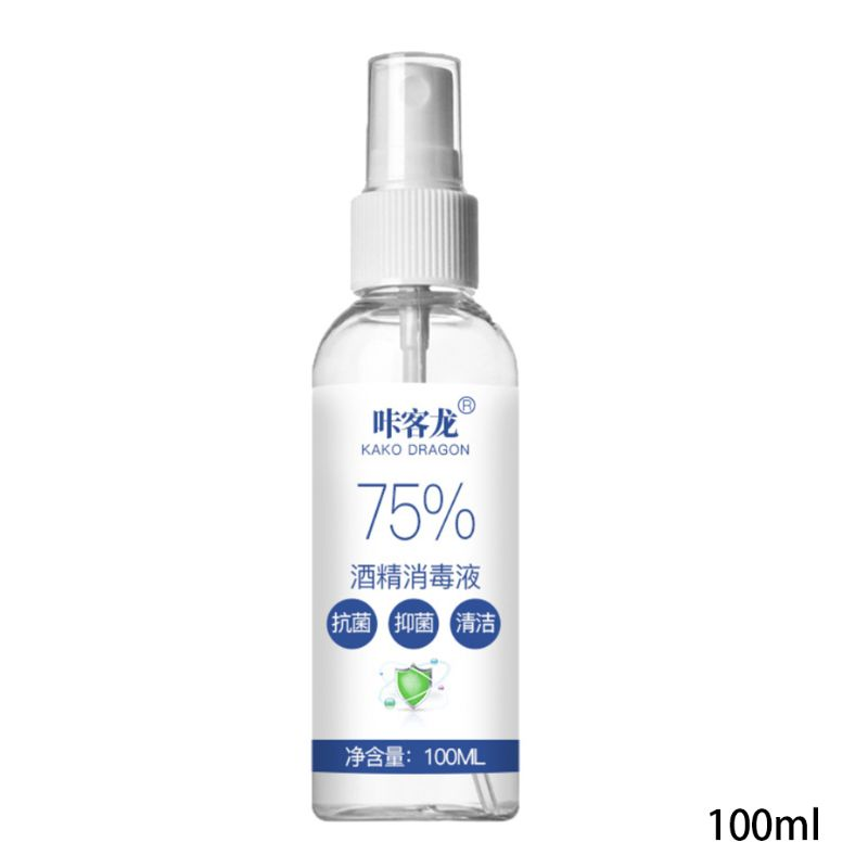 100ml 75% Alcohol Sterilization Spray Bacteriostasis Hand Cleansing Disinfectant X7YB