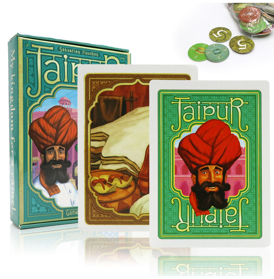 Giochi da tavolo da tavolo di Jaipur gioco di strategia di strategia inglese e spagnolo gioco commerciale per 2 giocatori amanti degli adulti giochi di carte per regali di intrattenimento