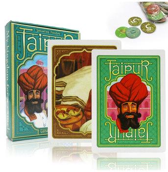 Płyta stołu Jaipur gry angielski i hiszpański zasady strategia gra handlowa dla 2 graczy miłośnicy dorosłych rozrywka prezenty gra w karty tanie i dobre opinie CN (pochodzenie) 80*58 mm