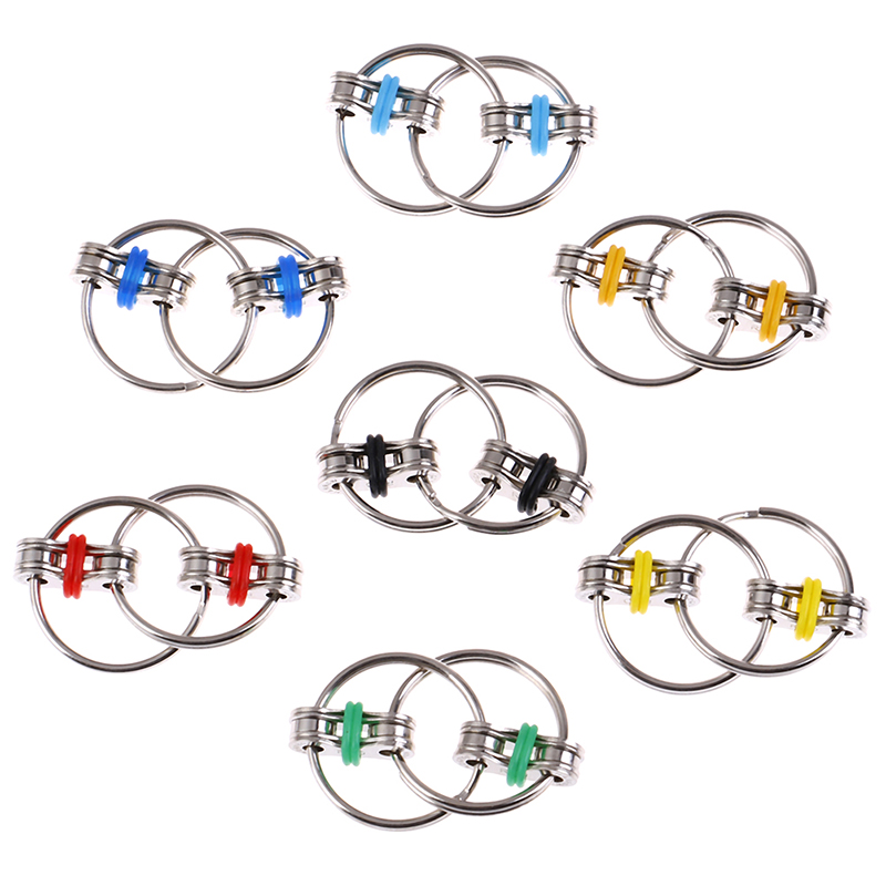 Autism ADHD Anti Stress Adult Fidget Toys Key Ring Hand Spinner Fidget Bearing Tri-Spinner EDC Toy Metal For Adult And Children