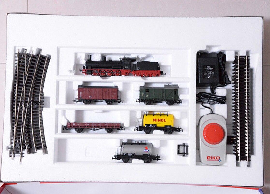 Paquet primaire de modèle de Train G7 tête de vapeur + carte de charbon + cinq voitures = voiture + Rail + contrôle