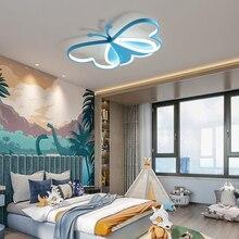 Ceiling-Chandelier-Lamp Light-Fixture Bedroom Butterfly Modern Led Girls Children's Nursery