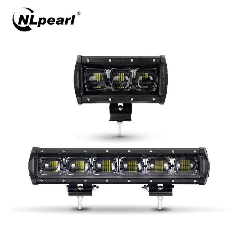 "Nlpearl 8"" 14"" 6D Lens Waterproof Work light Bar for Auto 4x4 Offroad Atv Trucks Trailers Car Spotlight 12V 24V LED Light Bar|Light Bar/Work Light| |  - title="