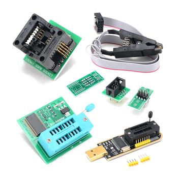 CH341A programator USB zestaw z SOP8 klip EEPROM palnik BIOS Flasher SPI Flash programator zestaw 1 8V Adapter i 150mil SOP8 gniazdo tanie i dobre opinie Inne CH341A Programmer Domu DIY
