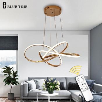 цена Modern LED Pendant Lights For Dining Room Living Room Bedroom Kitchen Gold Frame Hanging Lighting Fixtures Pendant Lamps онлайн в 2017 году
