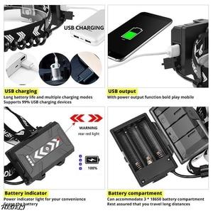 Image 4 - XHP90 LED Reflektor Latarka czołowa dużej mocy XHP70 Reflektor 18650 Akumulator USB Kemping XHP50 wodoodporna lampa czołowa Latarka XHP50.2 LED handight