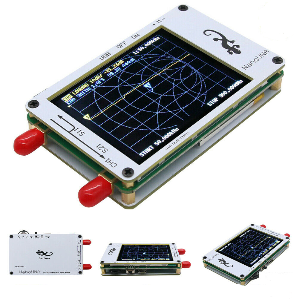 NanoVNA Vector 50 KHz-900 MHz HF VHF analyseur de réseau d'antenne UHF 2.8