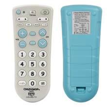 Conjunto de tv ir, controle remoto universal, controle remoto, super compatível, chunghop, alta qualidade, tr007, botões grandes