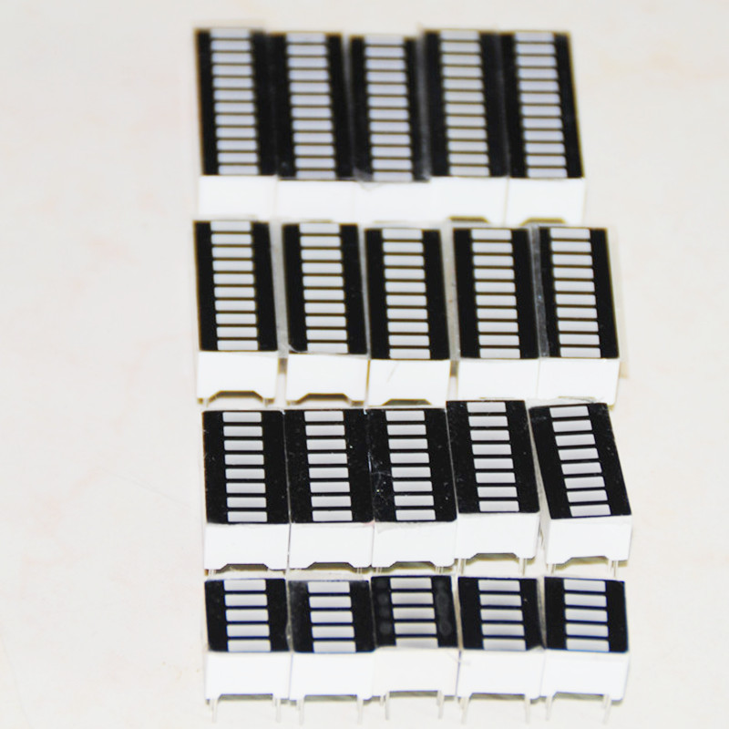 20pcs LED Display Bargraph Red LED Sign Bar-graph Segment Bar Graph Module Display Array 5 / 8 / 10 / 12 Segment 5pcs Each Board