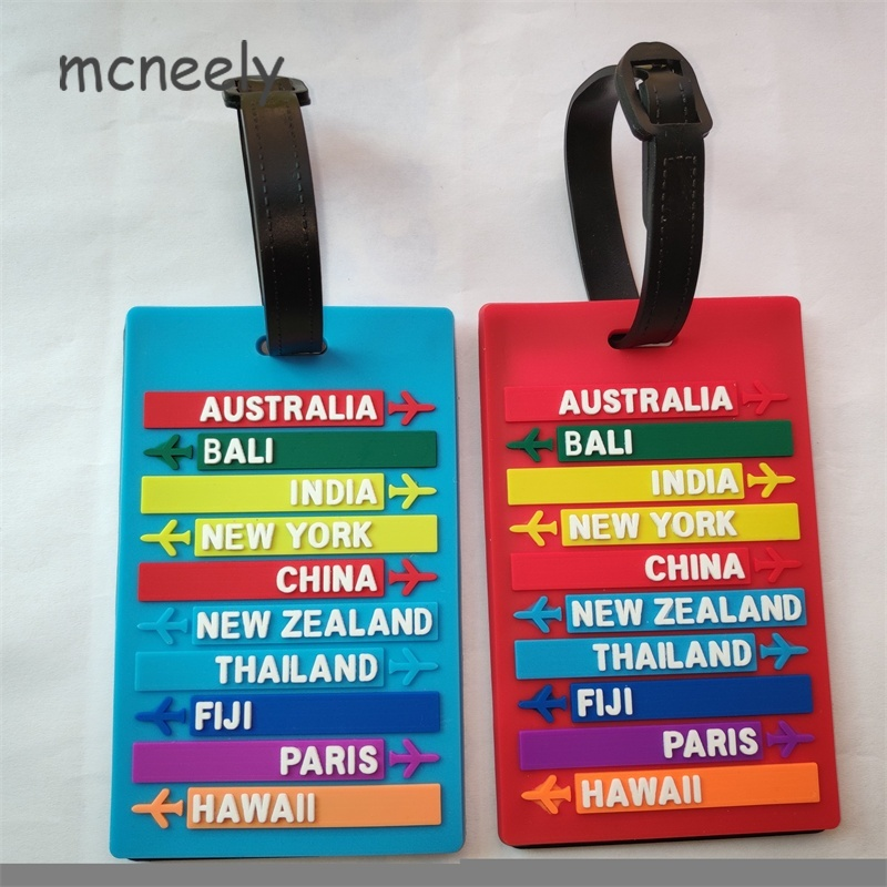 Hot Sale Luggage Tag Portable Secure Travel Suitcase ID Luggage Large Tag Label New High Quality Country Name Luggage Tag