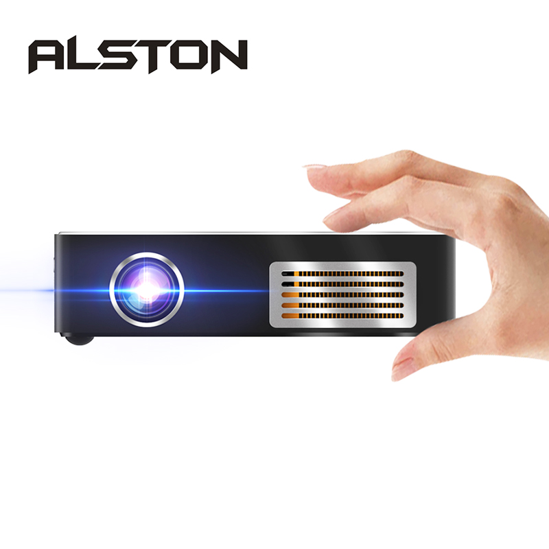 Home Cinema Proyector ALSTON Android 7.1 Mini Beamer Bluetooth Wifi Portable LED 4K DLP