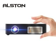 Алстон C9 плюс 4K Портативный мини-dlp проектор Android 7,1 Wi-Fi Bluetooth умная сенсорная панель проектор LED Главная Кино Бимер